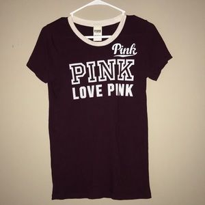 PINK Victoria's Secret Tops - VS PINK logo tee